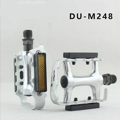 Wellgo 9//16 M248DU Alloy Metal Mountain Bike Bicycle MTB BMX Flat Pedals
