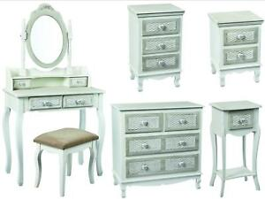 Shabby Chic Bedroom Furniture | Details About Brittany Grey Shabby Chic Bedroom Furniture With Hearts Basket Effect Drawers