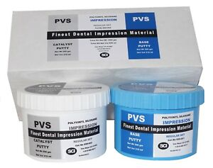 Details about Dental VPS Putty Impression Material Vinyl Polysiloxane 300  ml (500 gm)