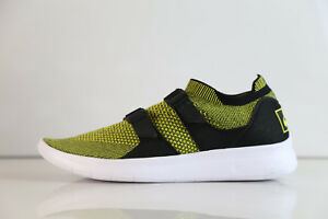 e4c445663d9 Nike Air SockRacer Flyknit Yellow Strike Black 898022-700 8-12 sock ...