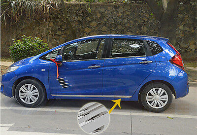 Stainless steel door Side Body Molding Trim Chrome For Honda FIT JAZZ 2014 2015