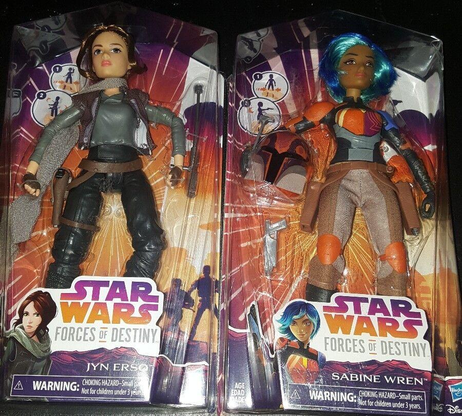 Star Wars Forces of Destiny - Sabine Wren & Jyn Erso Action Figure (Lot of 2)