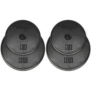 5-7-5-10-15-20-Lbs-Weight-Plates-Cast-Iron-Standard-1-034-Hole-Weights-Home-Gym