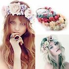 Women Girls Boho Flower Floral Hairband Headband Crown Party Bride Wedding Beach