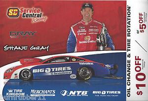 2012 Shane Gray Big O Tires Nhra Pro Stock Handout Postcard Ebay