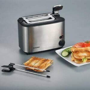 Severin-At-2516-Grille-Pain-Automatique-avec-Pinces-pour-Sandwich-2-Fentes-Acier