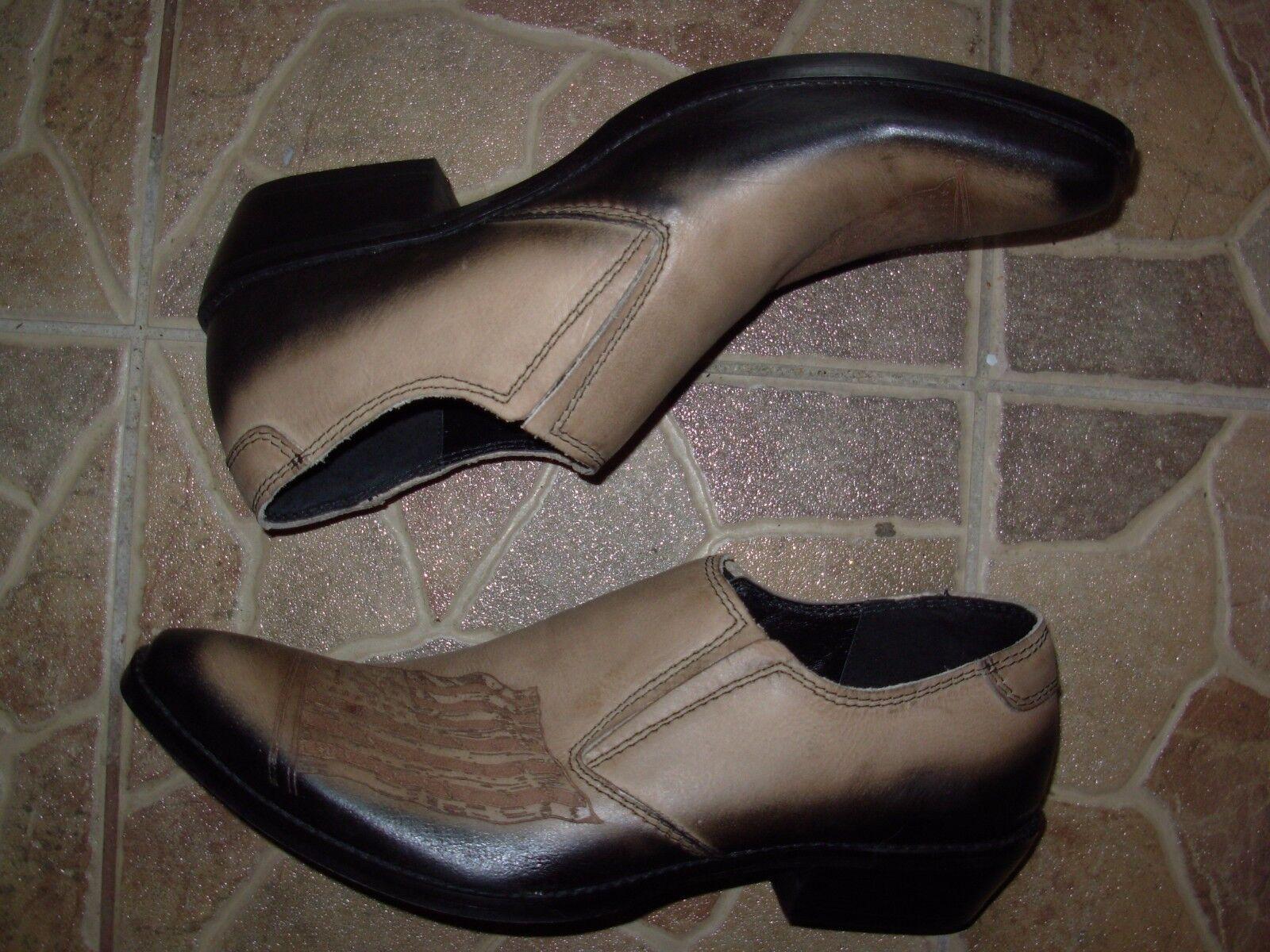 aa7f5205 negro Hand made Gorgeous botas style eu. 44 Talla Tan Leather Comodo cowboy  nrknkw2810-Botas