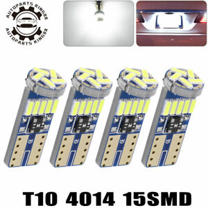 4x-Canbus-Error-Free-T10-LED-White-Interior-Light-Bulbs-W5W-158-168-192-194-2825