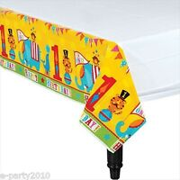 Fisher Price Circus Plastic Tablecover 1st First Birthday Party Supplies Decor