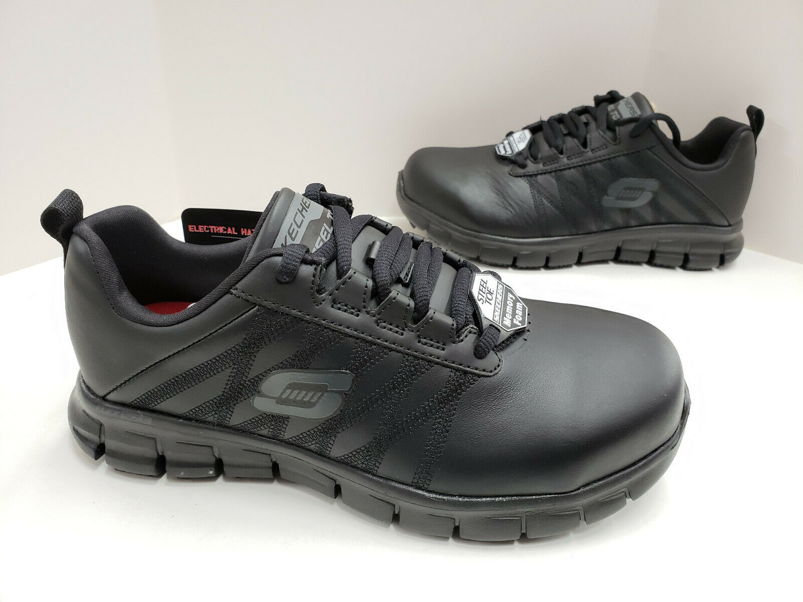 Skechers SURE TRACK-MARTLEY Womens Black 77242//BLK Steel Toe Work Shoes