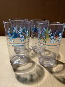 Pillsbury Doughboy 1991 Set Of 4 Plastic Cups Pre Owned