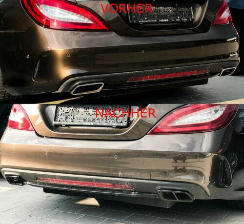 2x Black Chrome escape cegar escape mercedes e cabriolet hasta Mopf a207 ab/_6