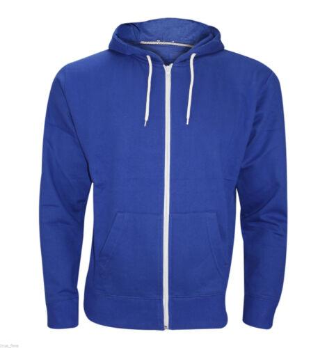 RockBerry New Plain Mens Fleece Zip Up Hoody Jacket Sweatshirt Hooded Zipper Top