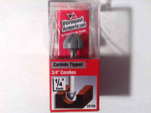 "3//4/"" Corebox Router Bit Vermont American 23125 Carbide Tipped Double Flute"