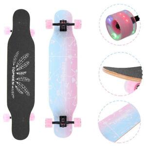 Longboard Skateboard 31in Drop Through Deck Complete Maple Cruiser Flash Wheels