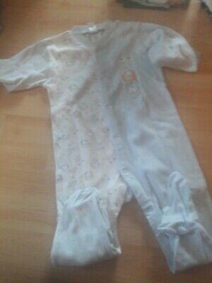 SCHIESSER Baby Anzug mit Fuss Strampler MARITIM 62 68 74 80 86 92 Schlafanzug