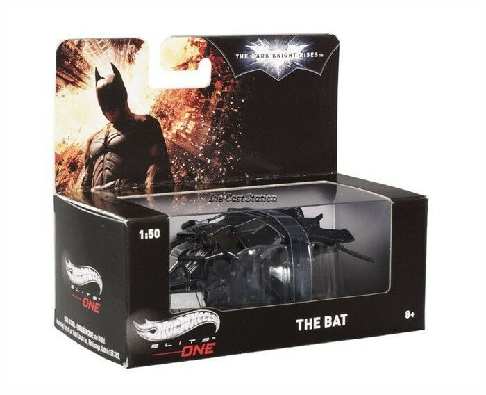 BOX OF 8PCS BATMAN DARK KNIGHT RISES THE BAT PLANE 1 50 HOT WHEELS ELITE BCJ82