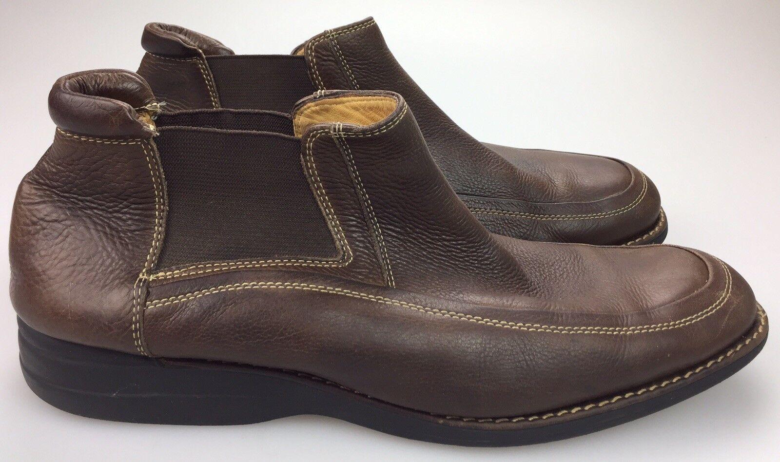 JOHNSTON & MURPHY Sheepskin Lined Soft Leather Chelsea Boots - Men's Size 13 M