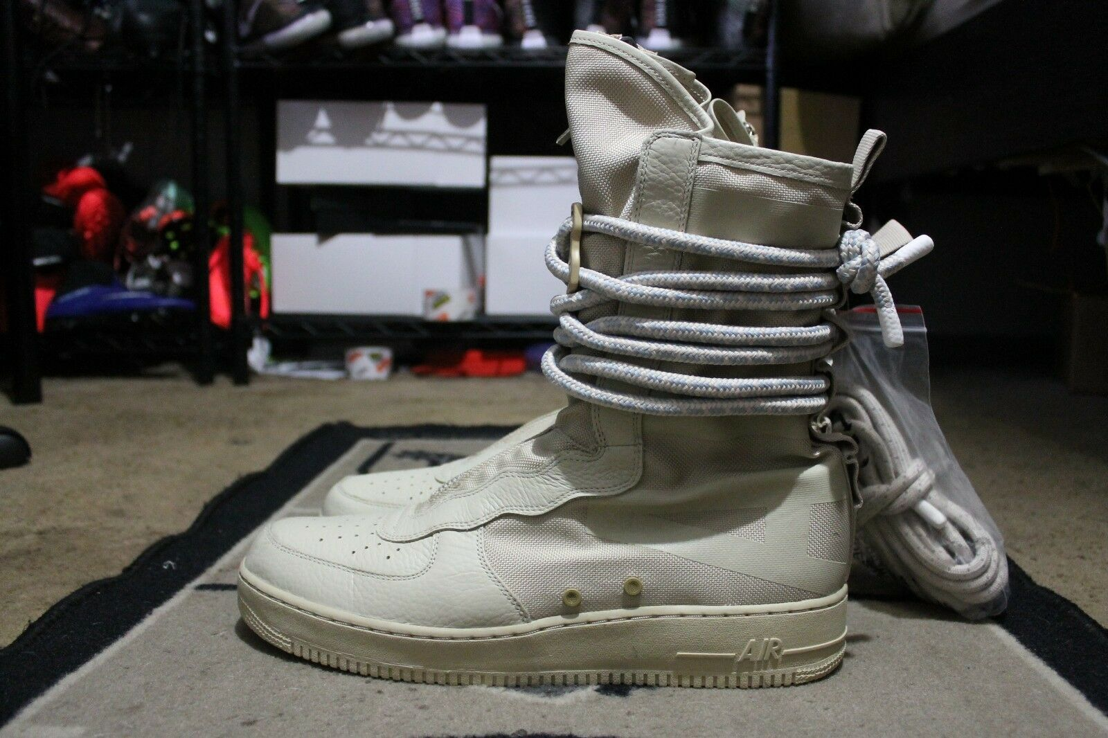 huge discount 3fc00 b192b New Nike SF AF1 Air Force 1 Special Field High High High Rattan sz 15 (