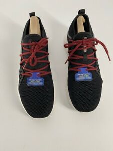 Skechers-Mens-Drafter-Havenedge-Athletic-Shoes-Black-52943-Mesh-Low-Top-8-5-New