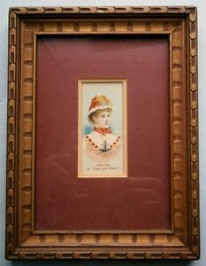 19th-Century-Actress-Josie-Hall-034-Light-and-Shade-034-Duke-039-s-Cigarette-Card-framed
