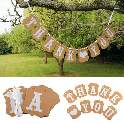 Hot New Photo Thank You Banner Bunting Garlands Props Wedding Decorations