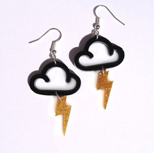 Women-Acrylic-Resin-Lightning-clouds-Earrings-Boho-Dangle-Drop-Hook-Earring