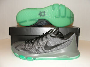in stock 1be5b fb3cf Details about Nike KD 8 VIII Basketball Shoes Hunts Hill Night Silver Green  sz Men 11
