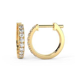 RRP-500-1-3-Carat-Round-Diamond-Claw-Set-Hoop-Earring-UK-Hallmark-Yellow-Gold