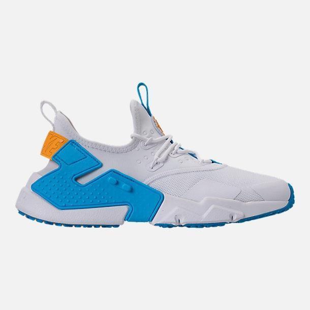on sale 3ac6b a6d4f Nike Air Huarache Drift Mens Ah7334-101 White Equator Blue Gold Shoes Size 8