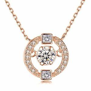 925-Silber-Halskette-45-cm-Schlagen-Herz-Liebhaber-Anhaenger-Damen-Schmuck