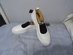 Suivant textile dames en In Baskets cuir plates 30 Made noir pour Italypumps Blanc € zrwxPzUq