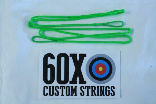"60X Custom Strings 54/"" Fast Flight Flo Green  Recurve Bowstrings Bow String"