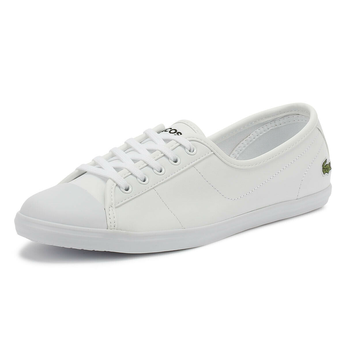 Lacoste Ziane BL 1 CFA White Trainers Sport Casual shoes Ladies Flats