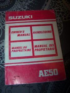 Importé De L'éTranger Jp Manuel Utilisateur/conducteur Entretien Owner Manual Suzuki Ae50 Ae 50 Cool En éTé Et Chaud En Hiver