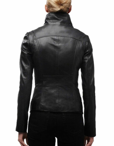 Fit Leather Biker nfs 81 Women Noora Slim Motorcycle Lambskin Jacket Leather 5aqXwIxXp
