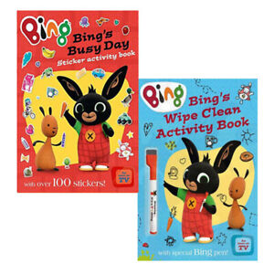 Bing-039-s-Wipe-Clean-amp-Bing-039-s-Busy-Day-Sticker-Activity-Book-Collection-2-Books-Set