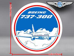 BOEING-737-300-B737-737-300-VINTAGE-LOOKING-DECAL-STICKER