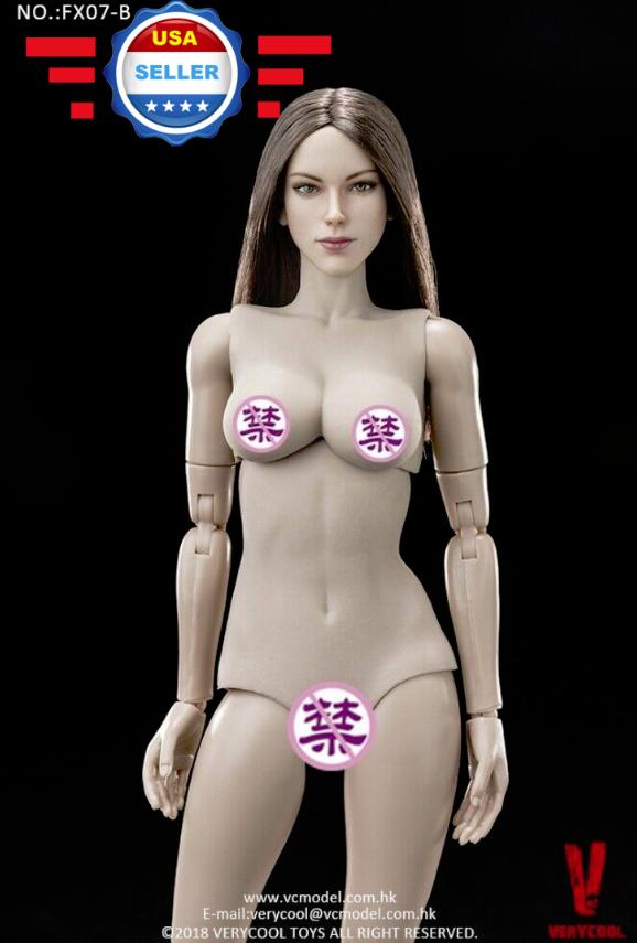 VERYCOOL 1 6 FX07 B Female Figure with marron  Hair Head Sculpt Full Body Set  2018 magasin