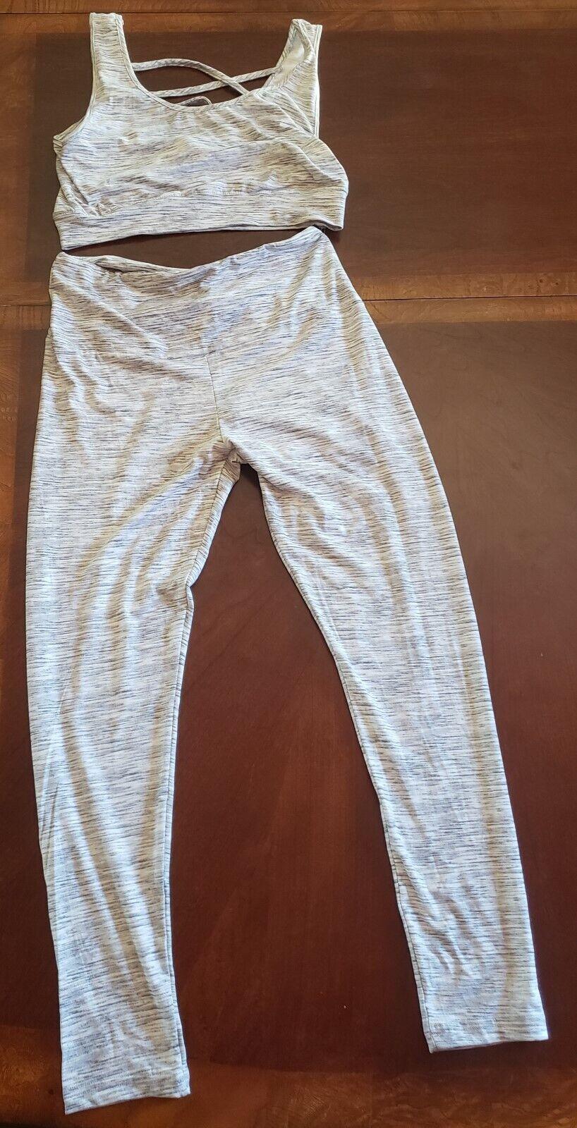ShoSho 2pcs, Woman Sports Suits, Yoga Workout Clothes, Tracksuit, size L