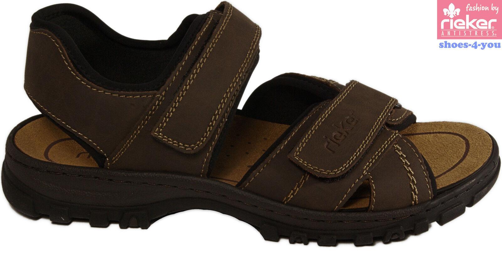 RIEKER Schuhe Sandale Freizeitsandalen Trekkingsandale braun Klettverschluss NEU