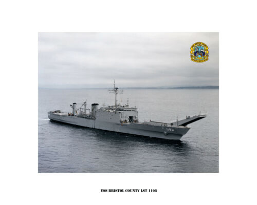 USS BRISTOL COUNTY LST 1198 USN Navy Naval Ship Photo Print