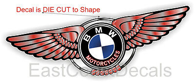 BMW Motorcycle NEW RED WING DECAL for ANY BMW F G K L RT GT CS CL R 650