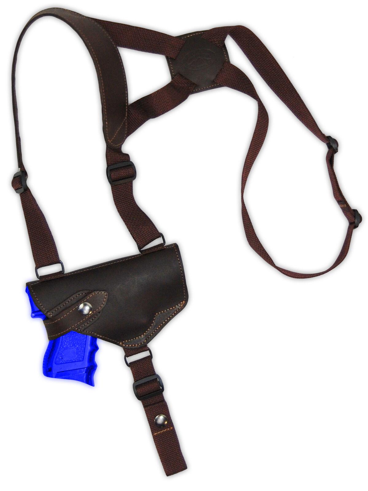 NEW Barsony Horizontal Braun Leder Shoulder Holster Springfield Comp 9mm 40 45