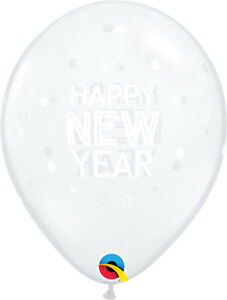 NEW-YEAR-039-S-EVE-BALLOONS-10-x-11-034-NEW-YEAR-SPARKLES-AND-DOTS-QUALATEX-BALLOONS