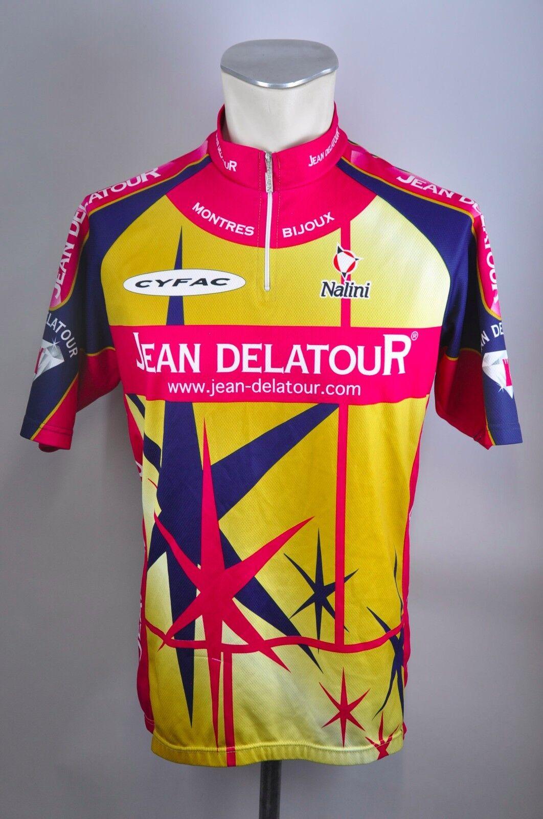 Jean Delatour Nalini Radtrikot cycling jersey jersey jersey Rad Trikot Gr L-XL 54cm MA1 | Merkwürdige Form  ae2ee6