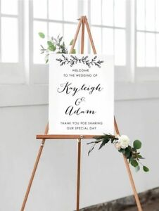 Image Is Loading A3 Personalised Design Welcome Wedding Sign Matching Our