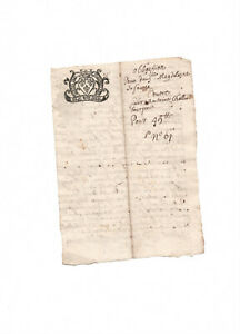 1687 LOUIS XIV Royal notary signed receipt manuscript document nice calligraphy