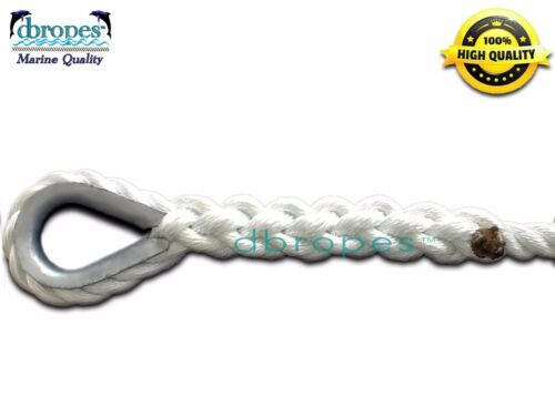 "10400 Lbs. TS 3 Strand Mooring Pendant 100/% Nylon Rope 5//8/"" X 30/' w// Thimble"