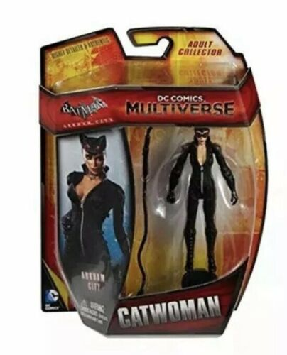 """Mattel DC Multi-Univers Batman Arkham City Catwoman 4/"""" Figure"""